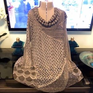 Gray Simply Couture Lacy XL Top